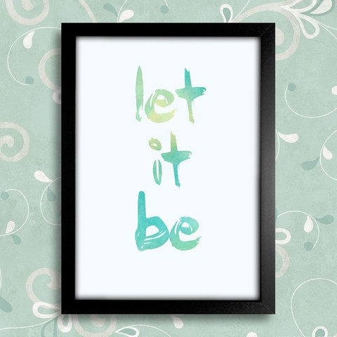 Poster Beatles Let It Be