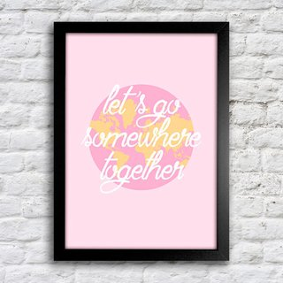 Poster Let's go somewhere - comprar online