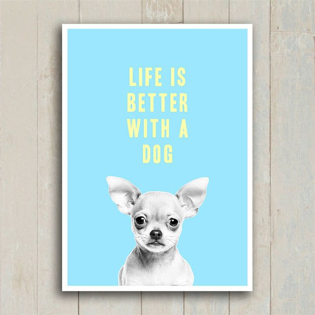 Poster Life is better with a dog - Encadreé Posters