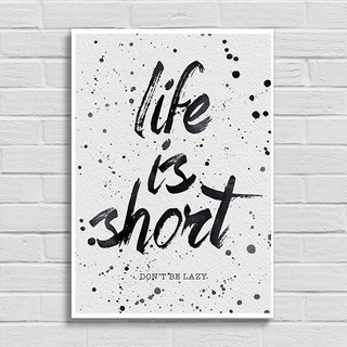 Poster Life is Short - Encadreé Posters