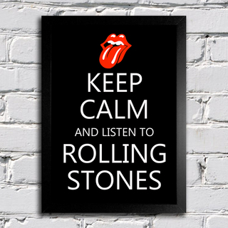 Poster Keep Calm and Listen to Rolling Stones - comprar online