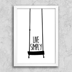 Poster Live Simply na internet