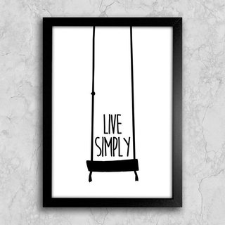 Poster Live Simply - comprar online