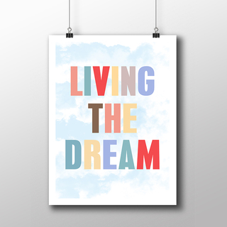 Poster Living The Dream - loja online
