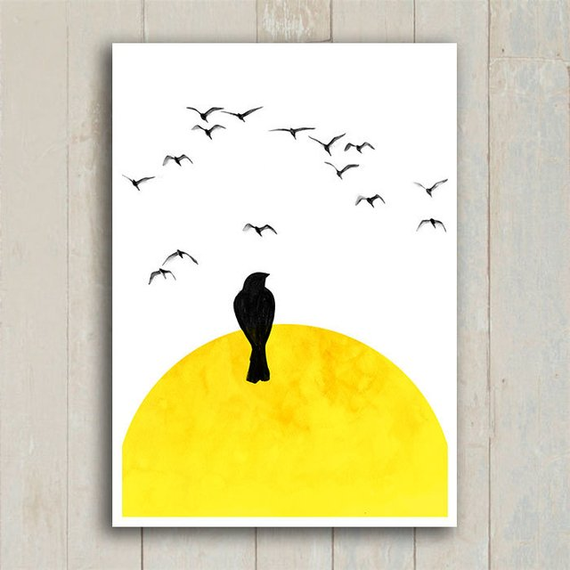 Poster Lonely Bird