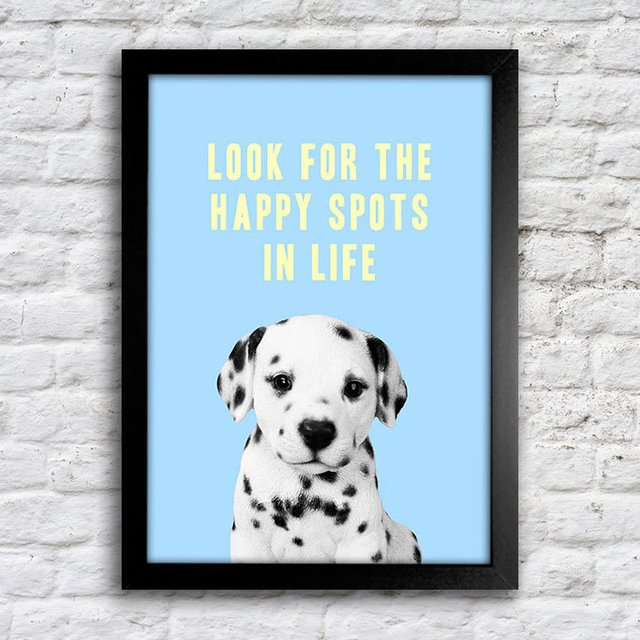 Poster Look fot the happy spots in life - comprar online