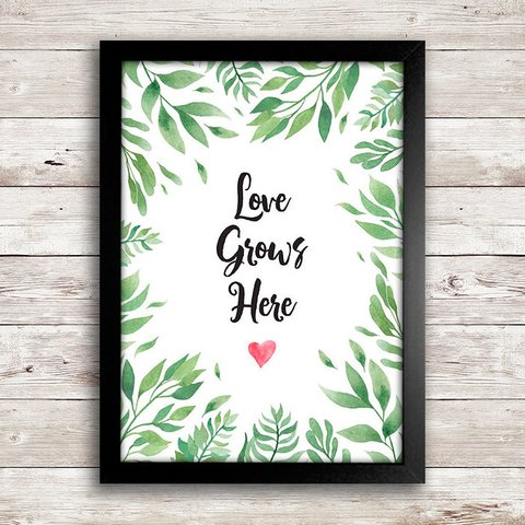 Poster Love grows here - comprar online