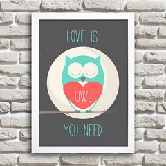 Poster Love is owl you need - comprar online
