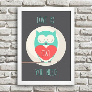 Poster Love is owl you need na internet
