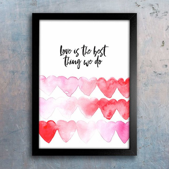 Poster Love is the Best Thing We Do - Encadreé Posters
