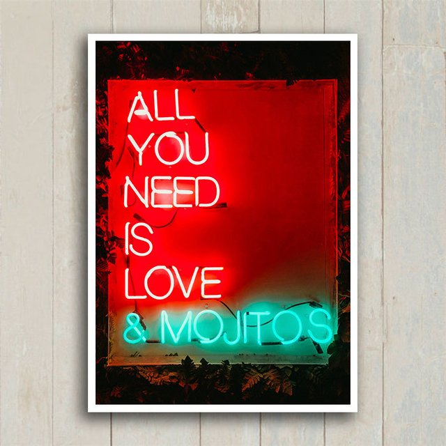 Poster Love & Mojitos