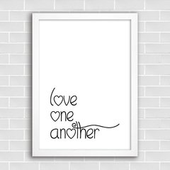 Poster Love One Another - comprar online