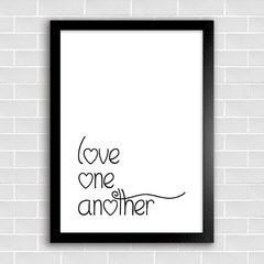 Poster Love One Another