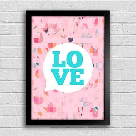 Poster Love Bubble - comprar online