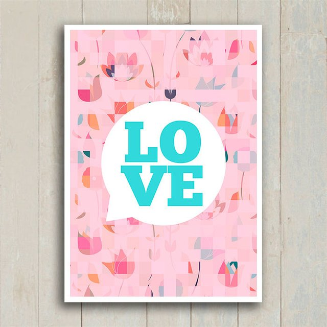 Poster Love Bubble - loja online
