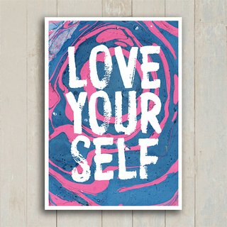 Poster Love Your Self - Encadreé Posters