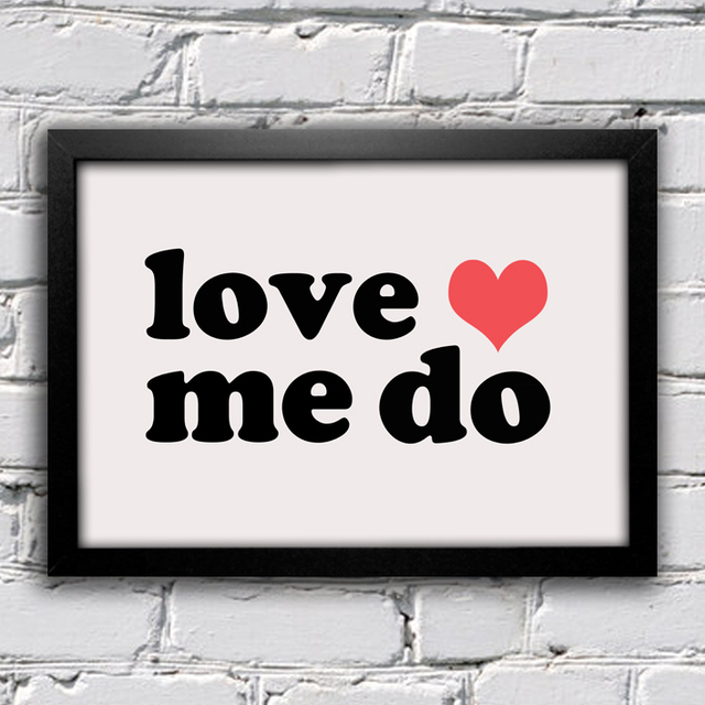 poster beatles love me do