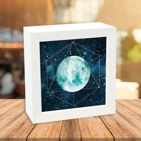 Quadro Box Geometric Moon - Encadreé Posters