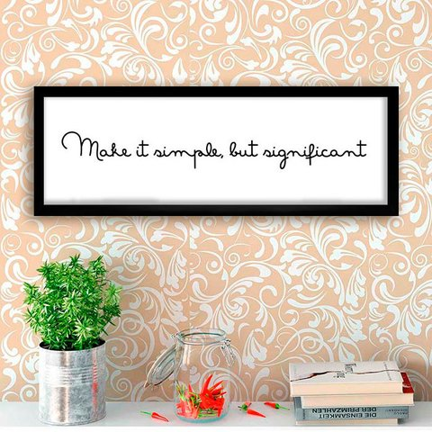 Poster Make it simple but significant - comprar online