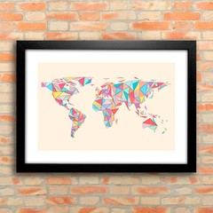 Poster Geometric Map - comprar online