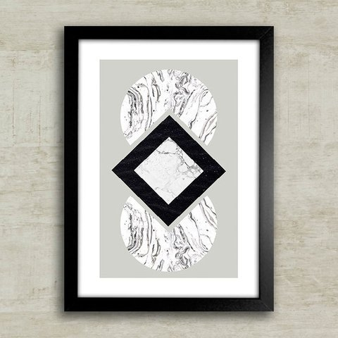 Poster Marble B&W - comprar online