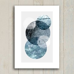 Poster Marble Grey Circles - Encadreé Posters