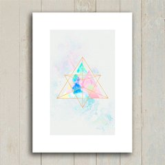 Poster Marble Mountains Triangles - Encadreé Posters