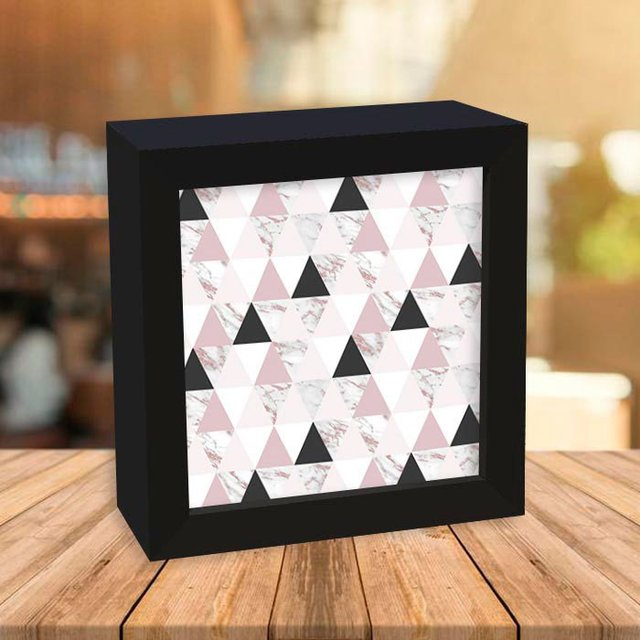 Quadro Box Marble Rose Triangles
