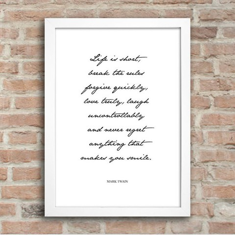 Poster Mark Twain - Life is Short - comprar online