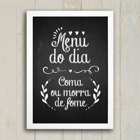 Poster Menu do Dia - comprar online