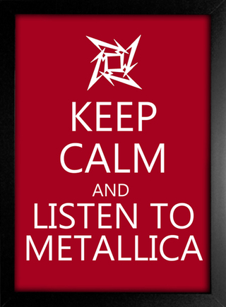 Poster Keep Calm and Listen to Metallica - Encadreé Posters