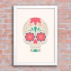 Poster Mexican Sugar Skull Grey na internet