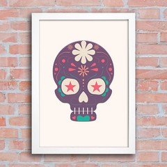 Poster Mexican Sugar Skull Purple na internet