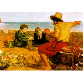 Millais - The Childhood of Walter Raleigh