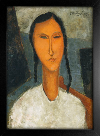 Imagem do Modigliani - Young Girl With Braids