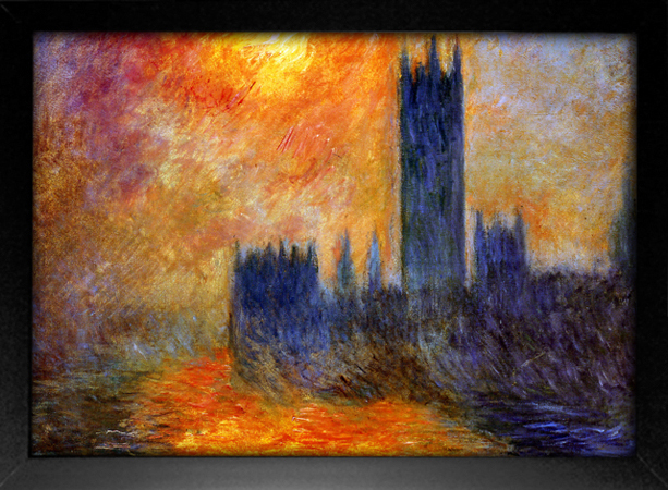 Imagem do Monet - House Of Parliament Sun