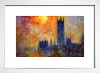 Quadro Monet - House Of Parliament Sun - Encadreé Posters