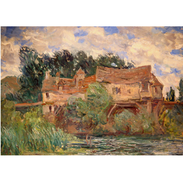 Monet - Houses on the Old Bridge at Vernon Circa