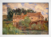 Monet - Houses on the Old Bridge at Vernon Circa - loja online