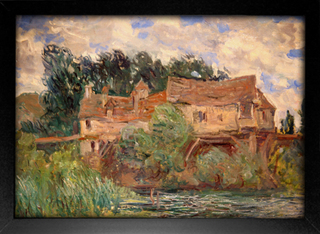 Imagem do Monet - Houses on the Old Bridge at Vernon Circa