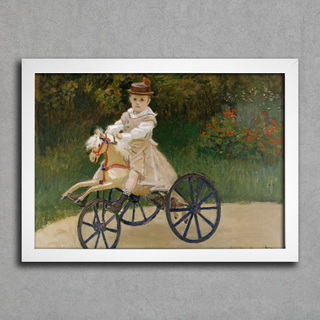 Monet - Jean Mmonet on his Hobby Horse - comprar online