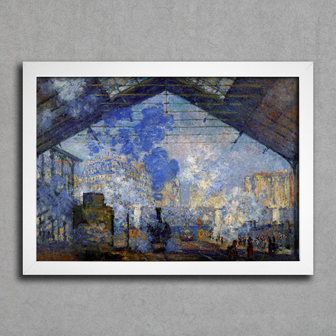 Monet - Saint Lazare Station Sun