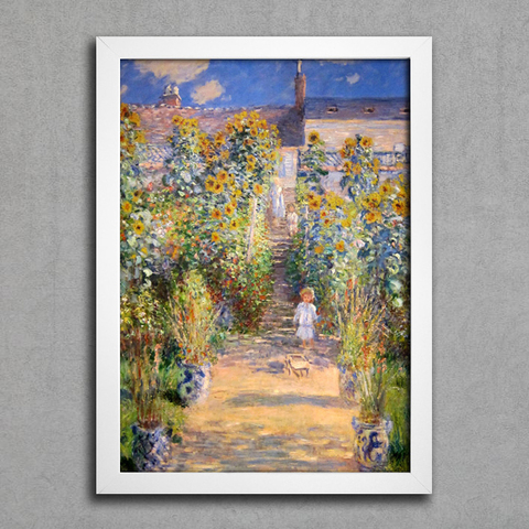 Monet - The Artist's Garden at Vetheuil