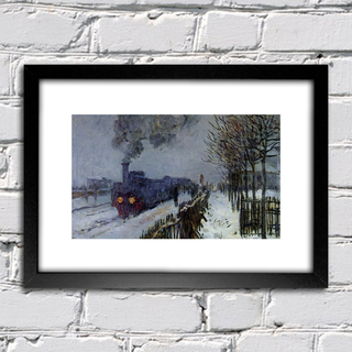 Quadro Monet - Train In The Snow - comprar online