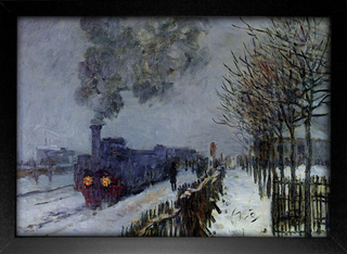 Imagem do Monet - Train in the Snow