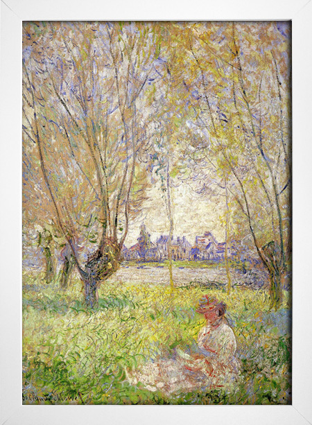 Monet - Woman Sitting Under the Willows - loja online