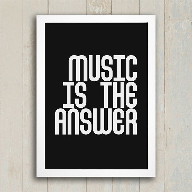 Poster Music is the answer - comprar online