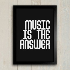 Poster Music is the answer na internet
