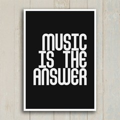 Poster Music is the answer - Encadreé Posters