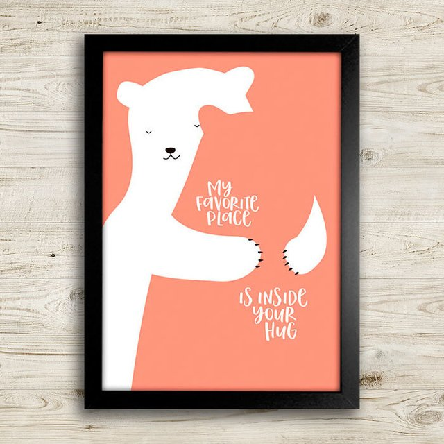 Poster My favorite place is inside your hug - comprar online
